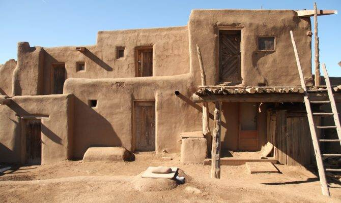 Native American Adobe House Taos Pueblo More Home Plans