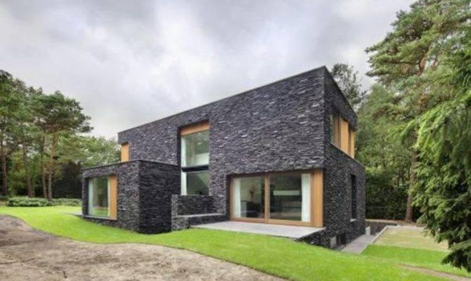 Natural Stone House Design Modern Facade Ideas Home Designs