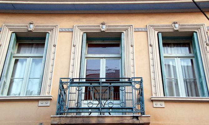 Neoclassical Balcony Windows Koukaki Athens