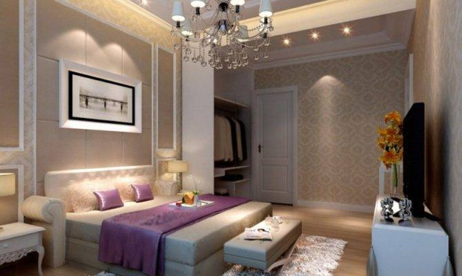 Neoclassical Bedroom Bedding Rendering House