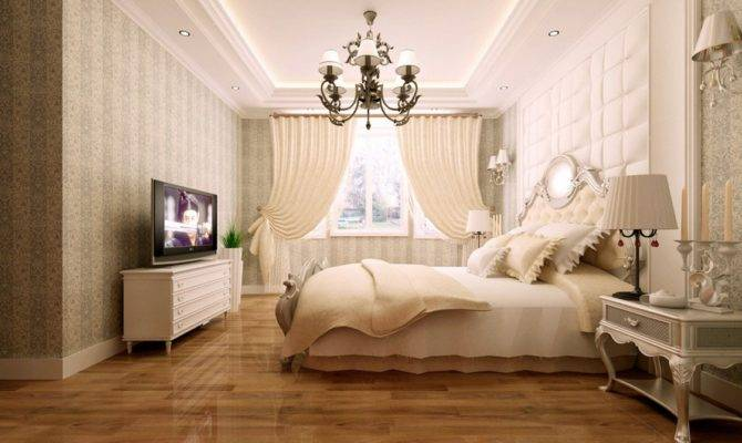 Neoclassical Bedroom Vertical Stripes