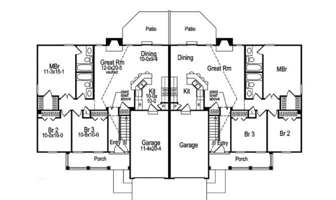 Neoclassical Home Plan First Floor House Plans More