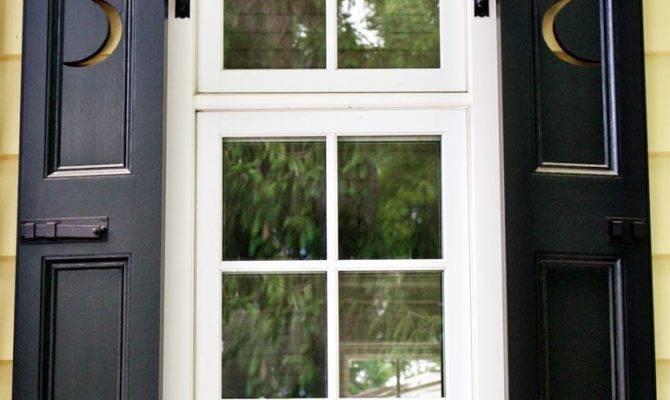 Neoclassical Residence Casement Windows Moon Shutters