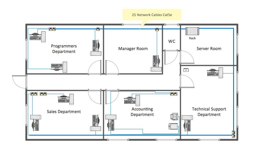 Network Layout Floor Plans Plan Sample House Plans 67698