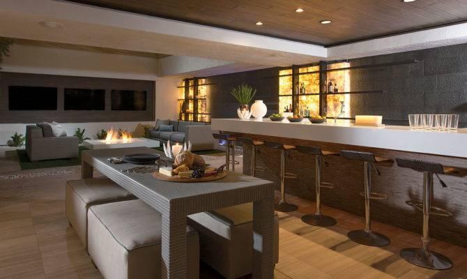 New American Home Basement Bar