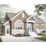 New American House Plan Four Bedroom Home Square