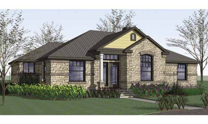 New American House Plan Four Bedroom Square