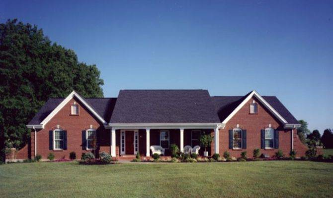 New Brick Home Designs House Plans Ranch Style Open