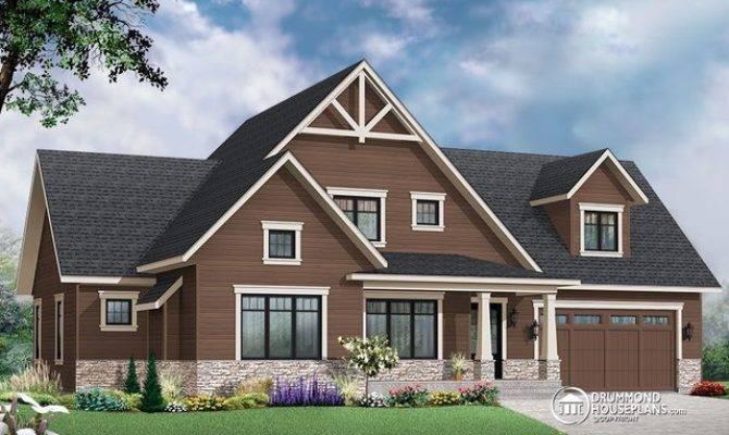 New Craftsman House Photos Plan Drummond