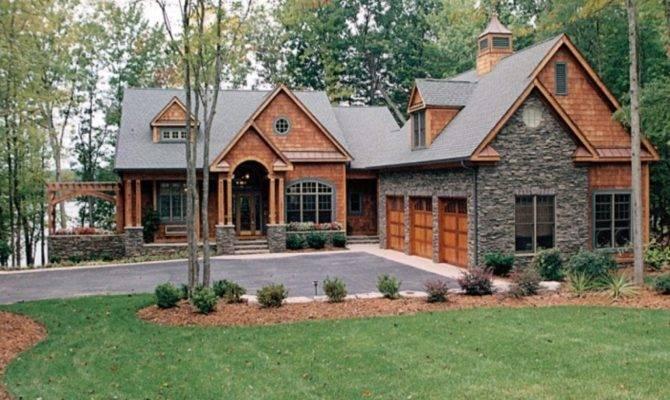 New Craftsman House Plans Lake Homes