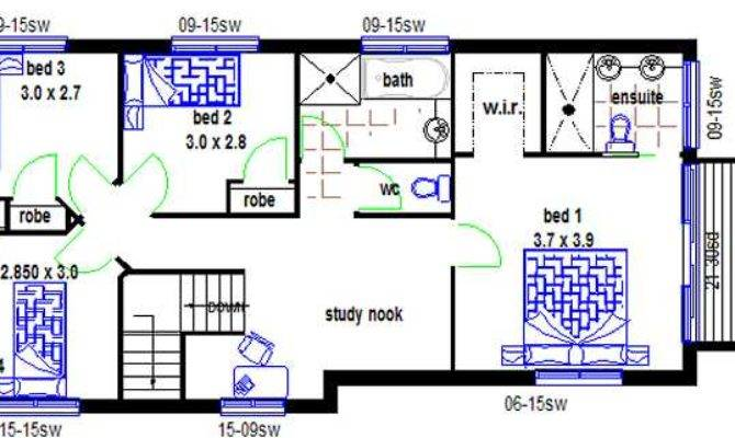 New Design Bedroom Narrow Lot House Plans