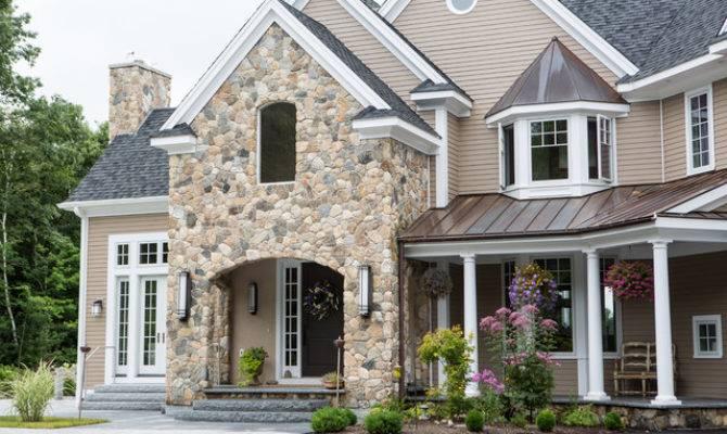 New England Style Design Fireplace Chimney Columns