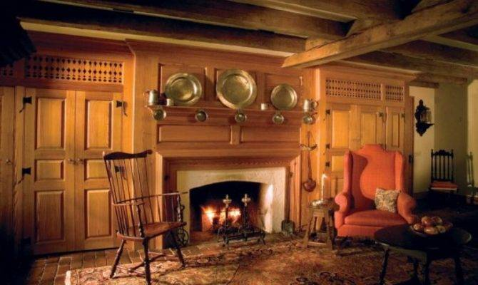 New England Style Dining Room Colonial Fireplace Mantels