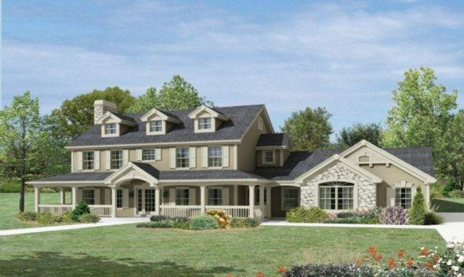 New England Style Ranch House Plans