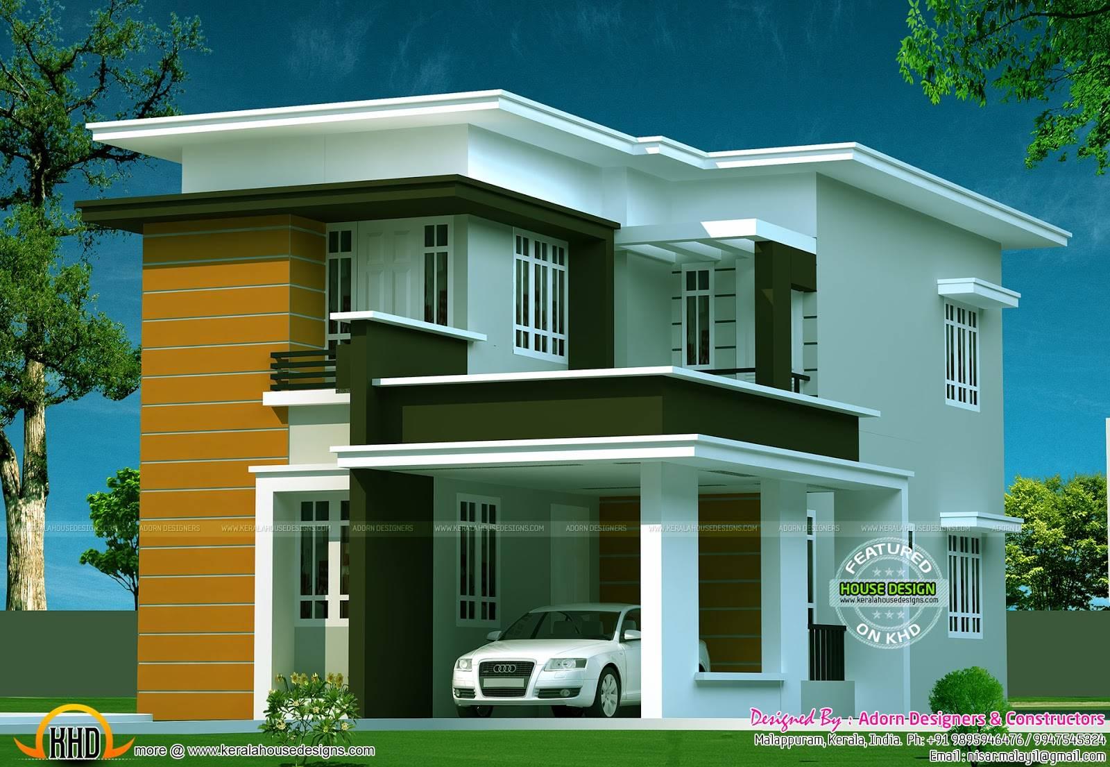 New Flat Roof House Kerala Home Design Floor Plans House Plans 95363