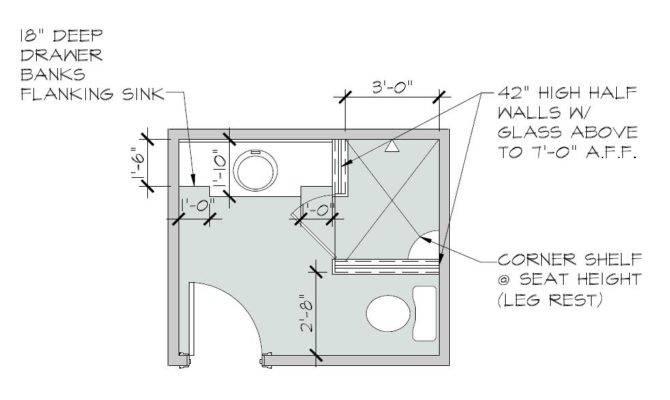 New Floor Plan Called Much Larger Custom Built Shower