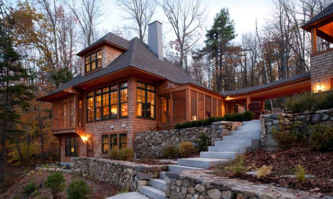 New Hampshire Lake House Traditional Exterior Boston