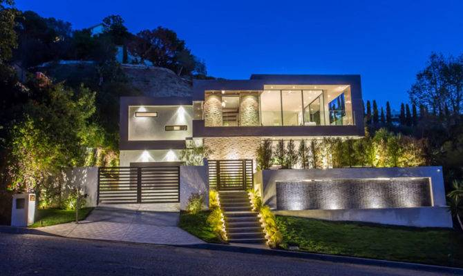 New House Lighting Hollywood Hills Los