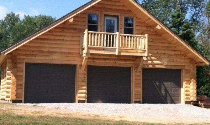 New Log Cabin Garage Home Plans Design
