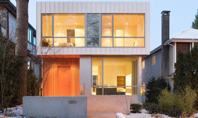 New Modern House Vancouver Filled Light