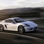 New Porsche Cayman White Side