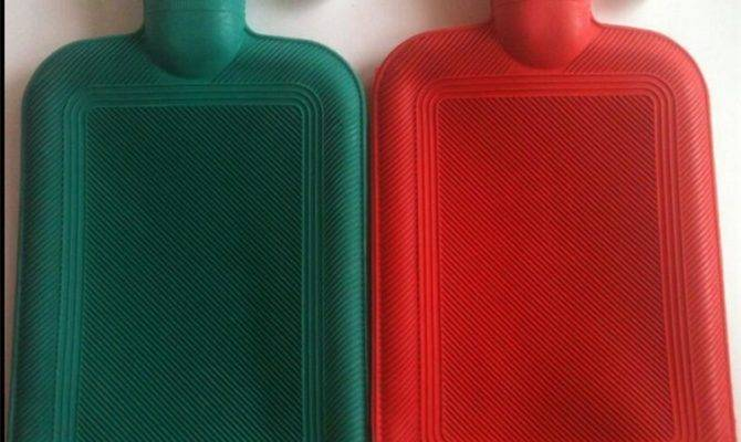 New Rubber Hot Water Bottle Bag Winter Warm Relaxing Heat