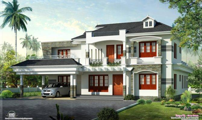 New Style Kerala Luxury Home Exterior House Design Plans