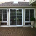 New Sunroom Sliding Glass Doors Deck