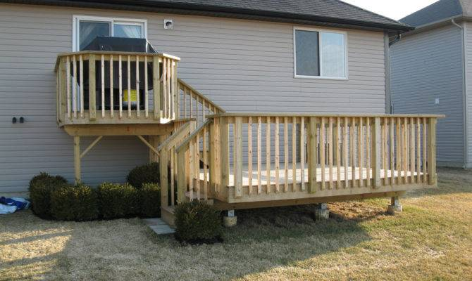 New Two Tiered Deck