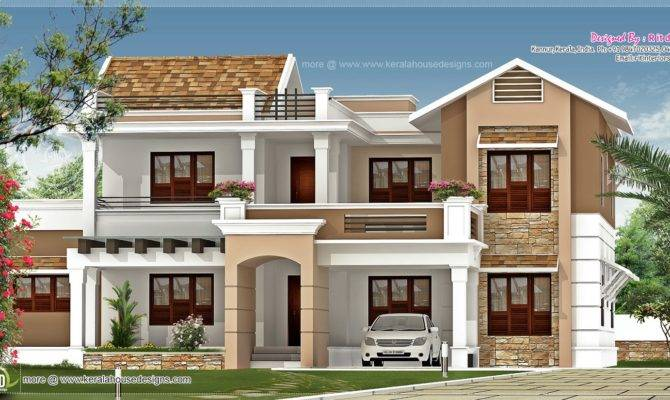 New Villa Exterior Design Feet Kerala Home House Plans