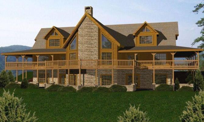 Newest Open Floor Plan Log Homes Cape Atlantic Decor