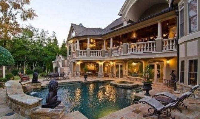Nice Big House Pool Home Pinterest Houses