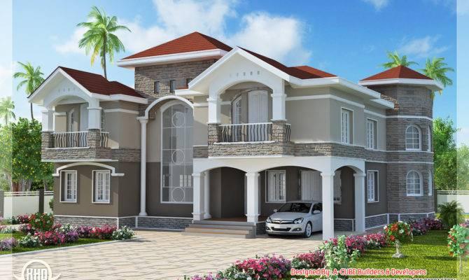 Nice Floor Indian Luxury Home Design Kerala