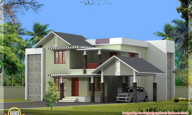 Nice Home Elevation Kerala Design Floor Plans House