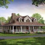 Nice House Plan Wrap Around Porch Country Plans