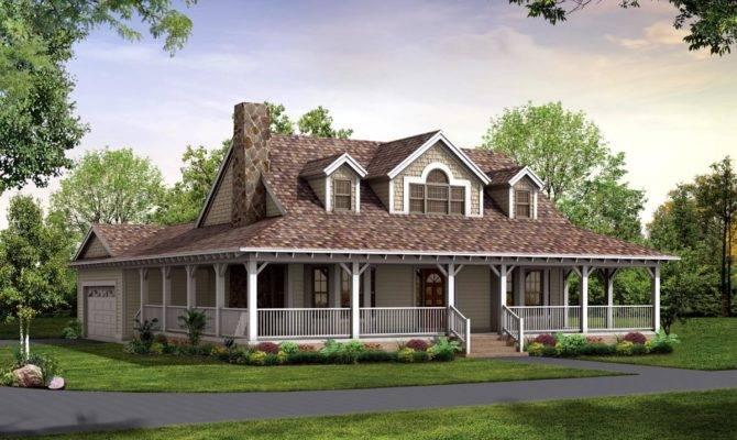 Nice House Plan Wrap Around Porch Country Plans