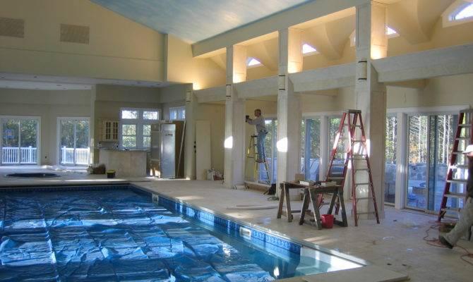 Nice Houses Indoor Pools Build Pool House