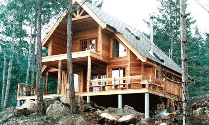 Nice Lakefront Home Plans Contemporary Cabin House
