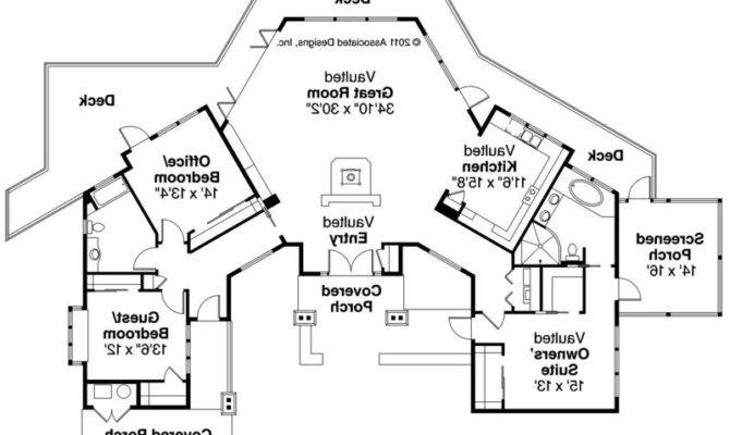 Nice Lodge Home Plans Hunting House Floor