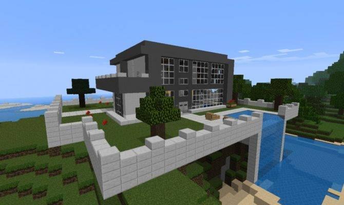 Nice Modern House Waterfall