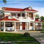 Nice Red Roof House Exterior Indian Plans