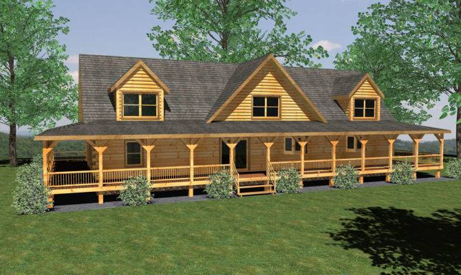 Nice Simple Design Contemporary Log Home Plans Has Wooden