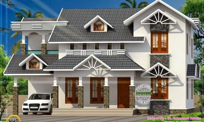 Nice Sloped Roof Kerala Home Design Homes Alternative