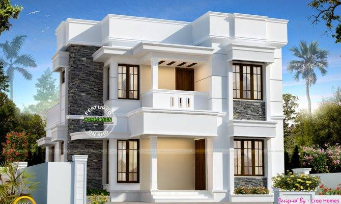 Nice Small Double Storied House Kerala Home Design Floor