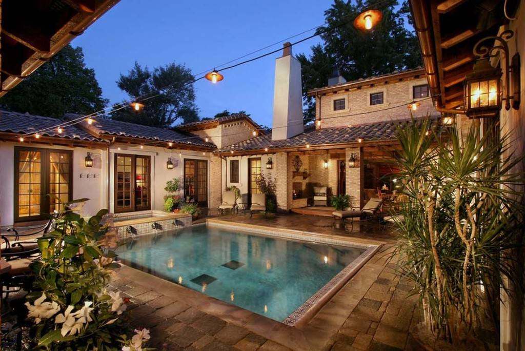 Nice Spanish Style House Plans Central Courtyard House
