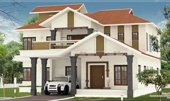 Nice Villa Elevation Design Feet Home Kerala