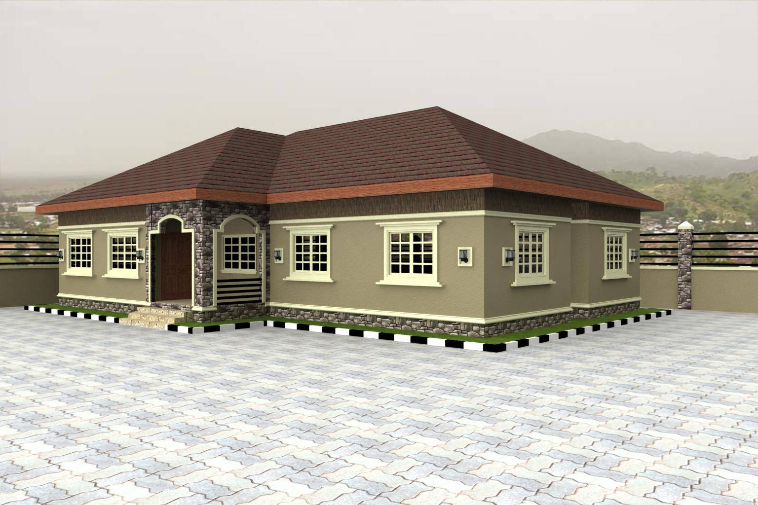 Nigerian House Design Best Designs Plans Houses House Plans 69217