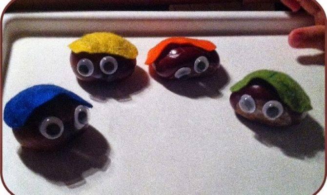 Nkitkat Autumn Crafts Chestnut People