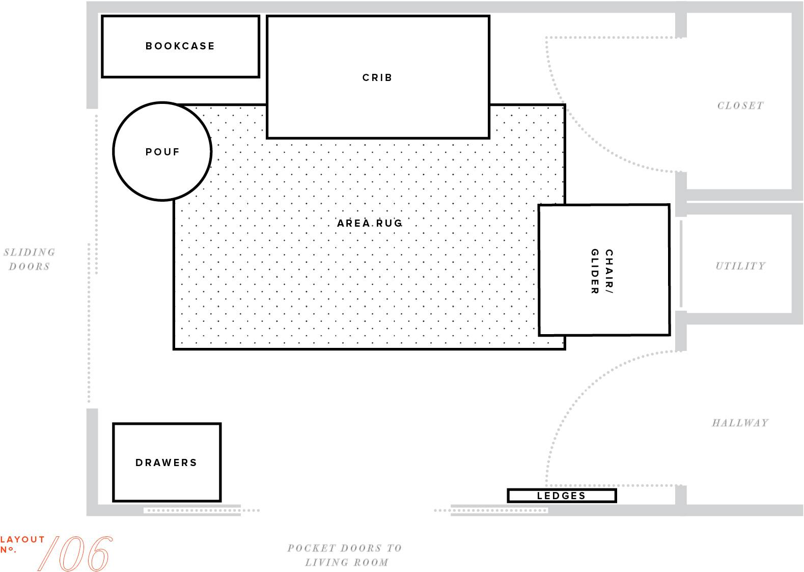 Nursery Makeover Floor Plan Furniture Layout Baby Boy Mstetson House Plans 1201