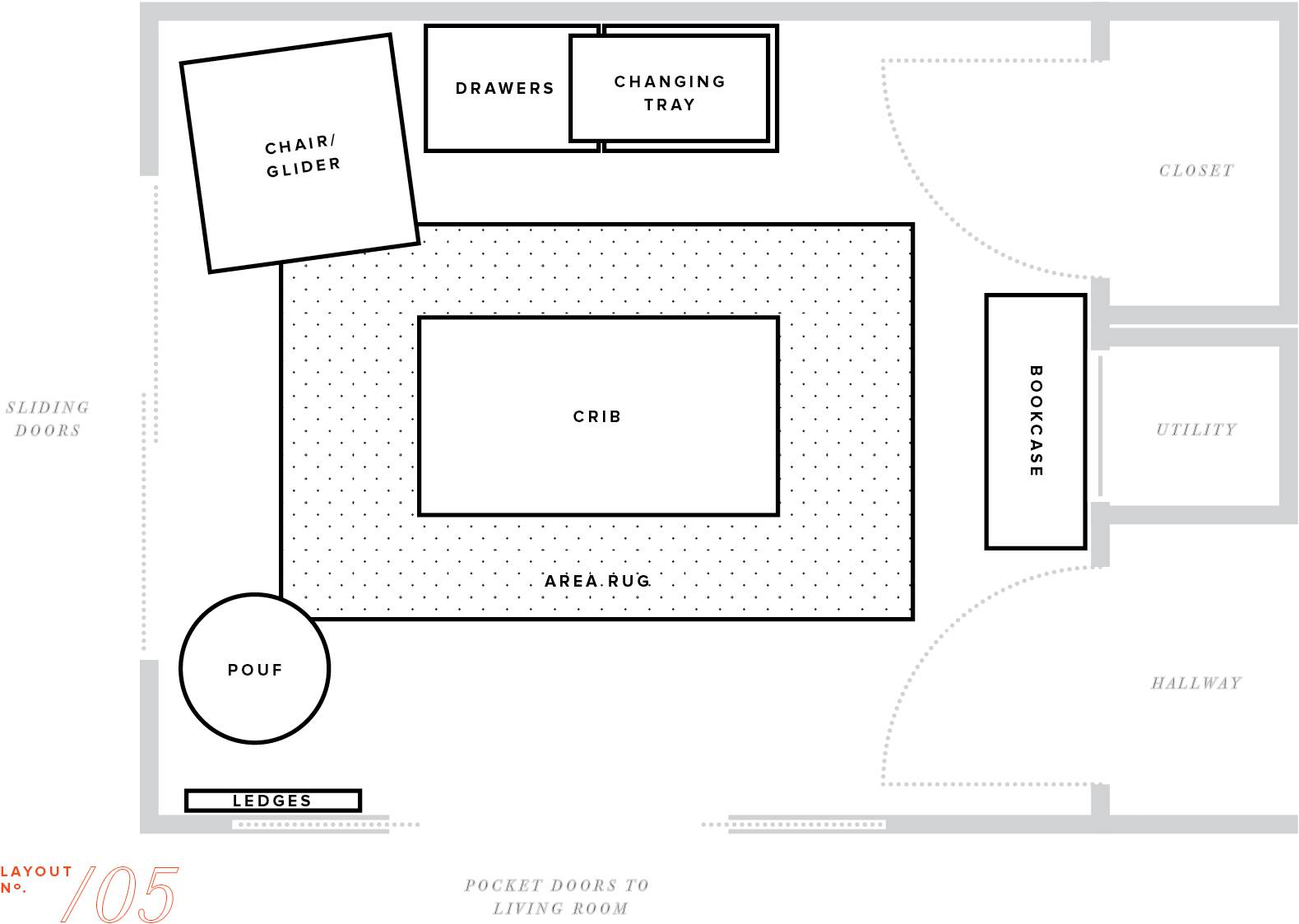 Nursery Makeover Floor Plan Furniture Layout Baby Boy Mstetson House Plans 1202
